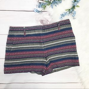 LOFT Embroidered The Riviera Short Size 6